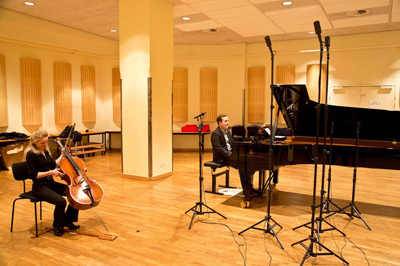 Recordings at the Konzerthaus, Vienna, with pianist Ben Schoeman of Rachmaninoff and Rubinstein sonatas, and  the Gerber/Schoeman arrangement of Rubinstein's Rêve Angelique.
